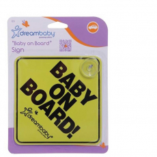 Baby On Board Sign Yellow/Black DreamBaby