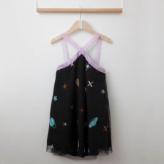 TC ΦΟΡΕΜΑ COSMOS EMBROIDERED TULLE DRESS & ACC