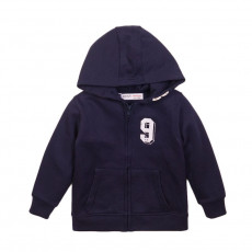 Ζακέτα boys basic navy graphic zip thru