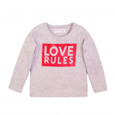 Μπλούζα girls basic dk grey love rules l/s