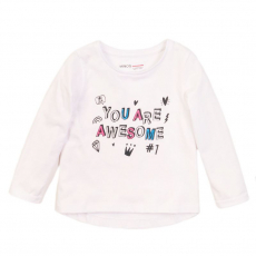 Μπλούζα girls basic white awesome l/s top BA