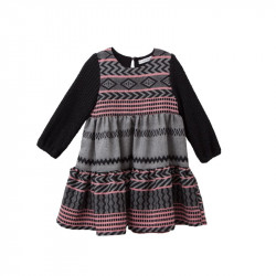 TC ΦΟΡΕΜΑ W/HEADBAND CRETAN ART EMBROIDERED 3 LAYER DRESS  KID