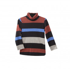 TC ΜΠΛΟΥΖΑ ΖΙΒΑΓΚΟ PORTOFINO STRIPED LUREX TURTLENECK TOP KID