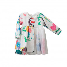 TC ΦΟΡΕΜΑ & HEADBAND KIDS PAINTING PRINTED DRESS W/TULLE DETAILS KID